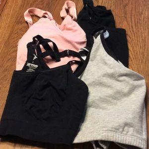 5 assorted sports bras